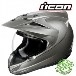 Casque ICON VARIANT GLOSS MEDALLION SILVER