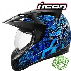 *NEW* Casque ICON - VARIANT COTTONMOUTH BLUE