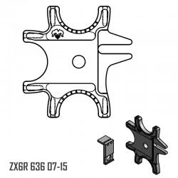 Platine Triple avec fixateur - ZX6R 636 07-15
