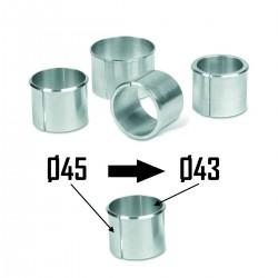 2x Bagues d'adaptation Ø45 à Ø43