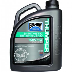 Huile moteur 4T BELRAY - 10W40 - 4 Litres - THUMPER RACING SYNTHETIC ESTER