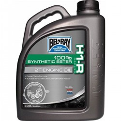 Huile moteur 2T BELRAY - 4 Litres - H1-R RACING 100% SYNTHETIC ESTER
