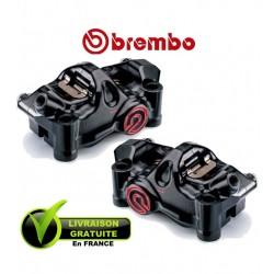PACK BREMBO 2 ETRIERS .484 CNC RADIAUX NOIR 4X32 ENTRAXE 100