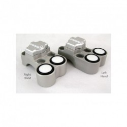 Contacteur ISR - 1 slide + 2 poussoirs - Position droite - CNC - Guidon 22mm