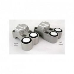 Contacteur ISR - 1 slide + 2 poussoirs - Position droite - CNC - Guidon 25,4mm