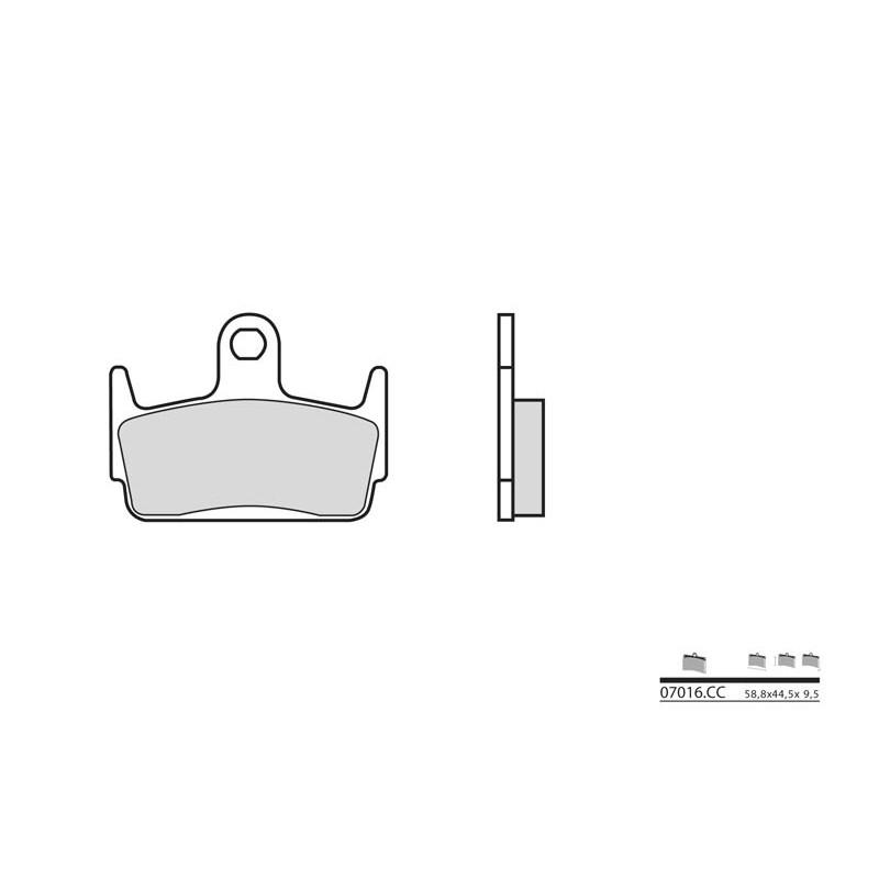 plaquettes de frein brembo 07016cc carbone c ramique avant jokeriders. Black Bedroom Furniture Sets. Home Design Ideas