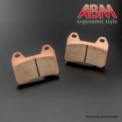 Plaquettes de frein ABM (pour Etrier Axial 4 pistons ABM ref: 10028515 & 10028615)