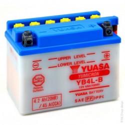 Batterie YUASA YB4L-B avec acide