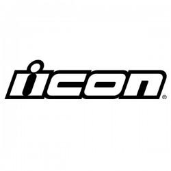 2x Stickers ICON WHITE 8cm