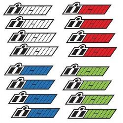 2x Stickers ICON WHITE 16cm