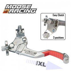 Levier Embrayage XL - MOOSE RACING Démultiplié - 3 positions - ROUGE
