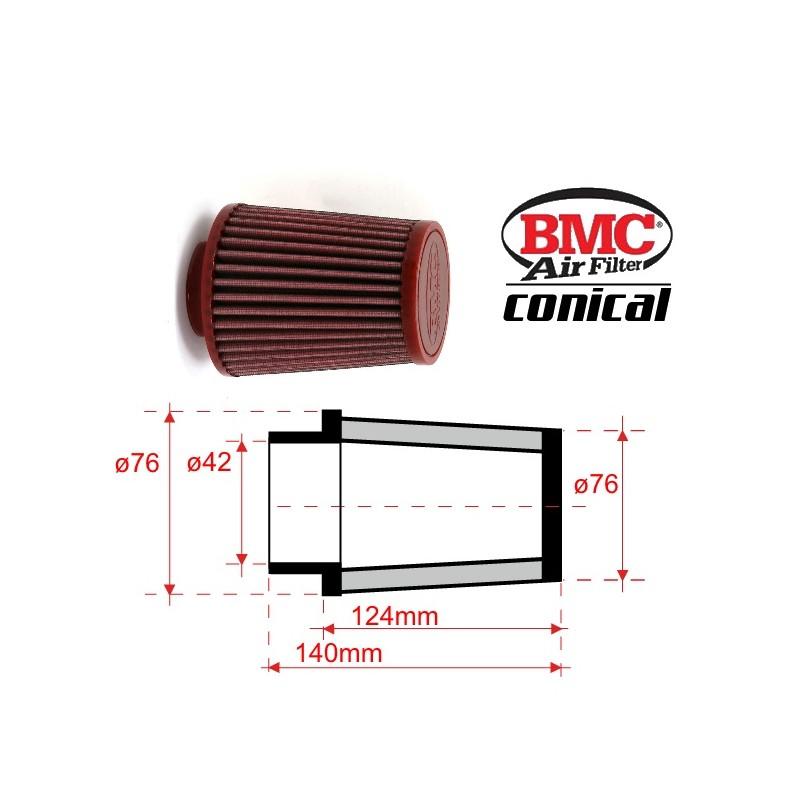 filtre air conique bmc 42mm x 124mm right jokeriders. Black Bedroom Furniture Sets. Home Design Ideas