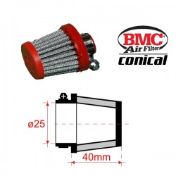 Filtre de Reniflards conique BMC - ø25mm x 40mm