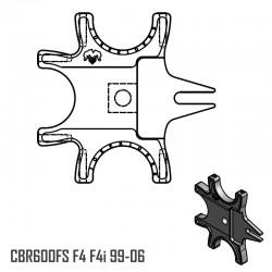 Platine Triple - CBR600FS F4i F4 99-06