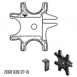 Triple Braket with tab fixer - ZX6R 636 07-15
