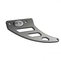 Protege Couronne - Dents de requin en ALU NOIR - Yamaha R6 03-05 / Triumph 675 06-12