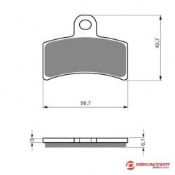 Plaquette de frein DISCACCIATI pour étrier arrière 4 pistons - MÉTAL FRITTÉ