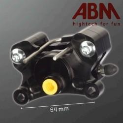 Etrier CNC ABM isaac4 - 2 Pistons - Position AR - entraxe 64mm
