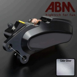 Front Right Caliper CNC ABM isaac4 - 6 piston - 87.5mm - HD - SILVER COLOR