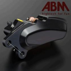 Etrier CNC ABM isaac4 Argenté - 6 Pistons - Position AVDroit - entraxe 40mm