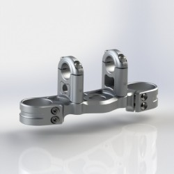 Triple Clamps CNC with bar clamps- KAWASAKI ZX6R 03-04