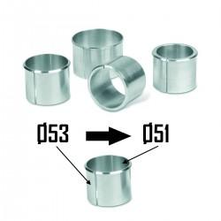 2x Spacers Sleeve Fork Ø53 to Ø51