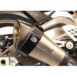 Protection de silencieux R&G RACING noir Akrapovic hexagonal