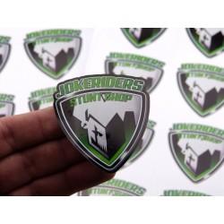 Sticker Jokeriders BLASON - Vert 6x6cm