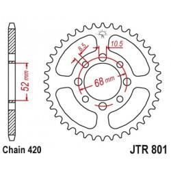Couronne JT SPROCKETS 30 dents acier standard pas 420 type 801