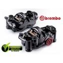 PACK BREMBO 2 ETRIERS .484 CNC RADIAUX NOIR 4X32 ENTRAXE 108