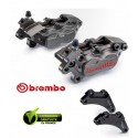 PACK BREMBO 2 CALIPERS AXIAUX CNC YAMAHA TMAX 09-11+ CARRIER
