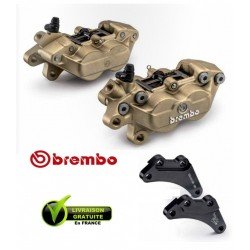 PACK BREMBO 2 CALIPERS AXIAUX FORGED YAMAHA TMAX 09-11 + CARRIER