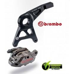 KIT ETRIER ARRIERE BREMBO CNC BRUT AVEC SUPPORT GSXR1000 09-15