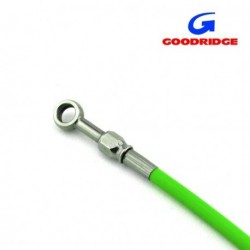 "Brake Line 40cm ( 15,75"" ) GREEN - Fittings INOX"