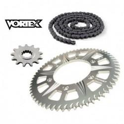 Kit Chaine STUNT - 15x60 - CB600F HORNET 07-13 HONDA Chaine Grise
