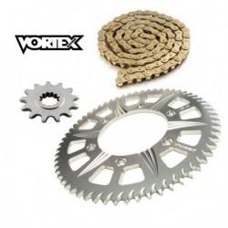 Kit Chaine STUNT - 13x65 - CB600F HORNET 07-13 HONDA Chaine Or