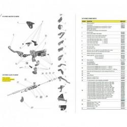 Adaptateur de montage Pour 167 HYMEC ESCLAVE KX 450 F, 2009 (N°28.7 sur photo - réf : 0431002)