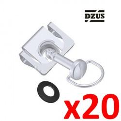 10x Fixation DZUS Type agrafe ressort 6mm