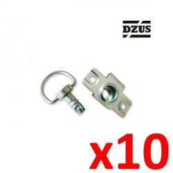 Fixation DZUS Type agrafe à riveter 6mm
